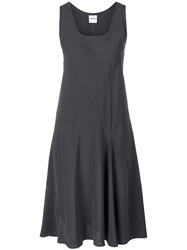 Aspesi Scoop Neck Shift Dress Grey