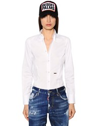 Dsquared Stretch Cotton Poplin Shirt