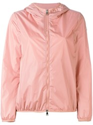Moncler Hooded Lightweight Jacket Women Polyamide 1 Pink Purple