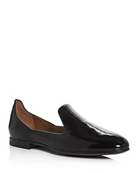 Aquatalia By Marvin K Emmaline Patent Leather Weatherproof Loafers Black
