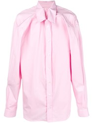 Y Project Double Layer Shirt Pink And Purple
