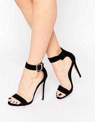 Truffle Collection Rita Barely There Heeled Sandals Blacksuede