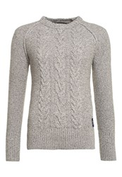 Superdry Cable Crew Jumper Grey