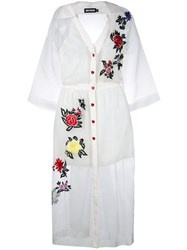 House Of Holland Sheer Shirt Dress White