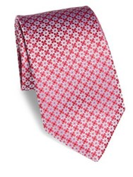 Charvet Abstract Star Silk Tie Red