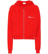 Re Done Embroidered Cotton Hoodie
