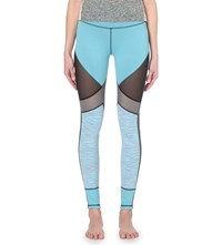 Sweaty Betty Urdhva Reversible Yoga Leggings Toucan Blue