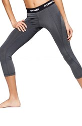 Women's Ivy Park 'I' Low Rise Three Quarter Leggings Dark Grey Marl