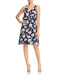 B Collection By Bobeau Lane Floral Print Overlay Dress 100 Exclusive Blue Stencil