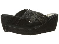 Sbicca Porto Black Women's Wedge Shoes