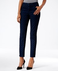 Charter Club Bristol Printed Ankle Skinny Jeans Only At Macy's Medium Rinse Combo