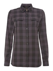 Barbour Edrington Check Shirt Grey