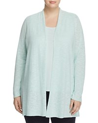 Eileen Fisher Plus Long Open Front Cardigan Aurora