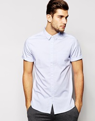 New Look Short Sleeve Oxford Shirt Potteryblue