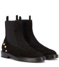 Balenciaga Embellished Suede Chelsea Boots Black
