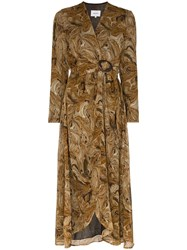 Nanushka Kemper Twist Front Dress Brown