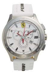 Men's Scuderia Ferrari 'Scuderia Xx' Chronograph Silicone Strap Watch 48Mm White
