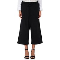 Comme Des Garcons Cotton Wide Leg Crop Pants Black