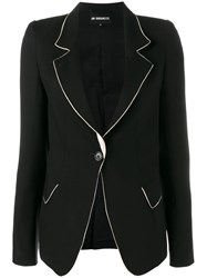 Ann Demeulemeester Blazer With Contrasting Piping Black