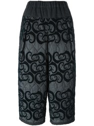 Kolor Printed Cropped Trousers Grey