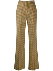 Etro Houndstooth Print Trousers Green
