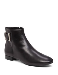 Delman Marie Leather Ankle Boots Black