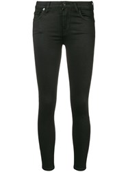 7 For All Mankind Skinny Trousers Black