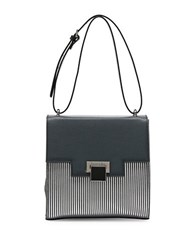 Braccialini Linda Saffiano Leather Handbag Grey Silver