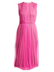 Prada Jersey And Tulle Dress Pink Multi