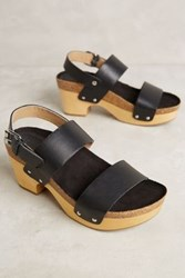 Anthropologie Latigo Larry Clogs Black 8.5 Wedges