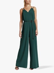 Ted Baker Rheya Cord Trim Wide Leg Jumpsuit Dark Green