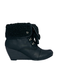 Call It Spring Winfielda 'Shearling Style' Cuff Ankle Boots 96Black