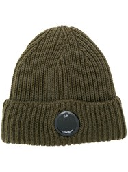 C.P. Company Cp Ribbed Beanie Hat Green