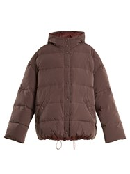 Raey Hooded Quilted Down Jacket Purple