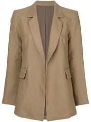 Cityshop Classic Fitted Blazer Brown