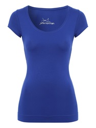 Jane Norman Deep Hem T Shirt Blue