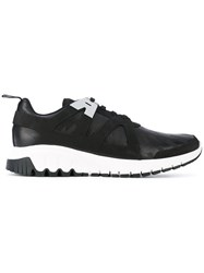 Neil Barrett Harness Trainers Men Leather Polyester Rubber 42 Black