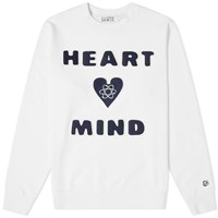 Billionaire Boys Club Heart And Mind Patch Crew Sweat White