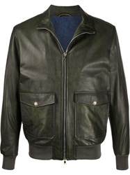 Barba Leather Bomber Jacket 60