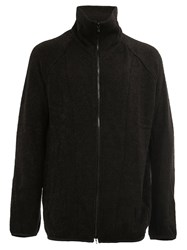 Julius Zipped Knitted Jacket Black