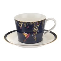 Sara Miller Chelsea Collection Teacup And Saucer Navy