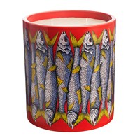 Fornasetti Large Scented Candle Sardine Rosso