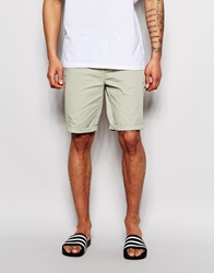 Asos Chino Shorts In Longer Length Agategrey