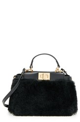 Fendi 'Micro Peekaboo' Genuine Shearling And Lambskin Leather Bag