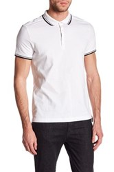 Kenneth Cole Contrast Trim Polo White