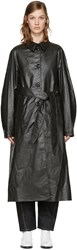 Christophe Lemaire Black Belted Trench Coat
