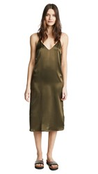 Anine Bing Gemma Slip Dress Military Green