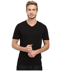 Agave Supima Vee Neck Short Sleeve Tee Black Men's T Shirt