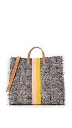 Clare V. Simple Tote Summer Twill Blush Gold