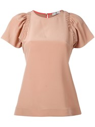 Paul Smith Ps By Pleated Sleeve Blouse Pink Purple